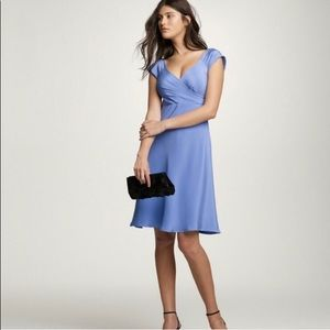 J.Crew Blue Cecilia Silk  Dress - Size 12